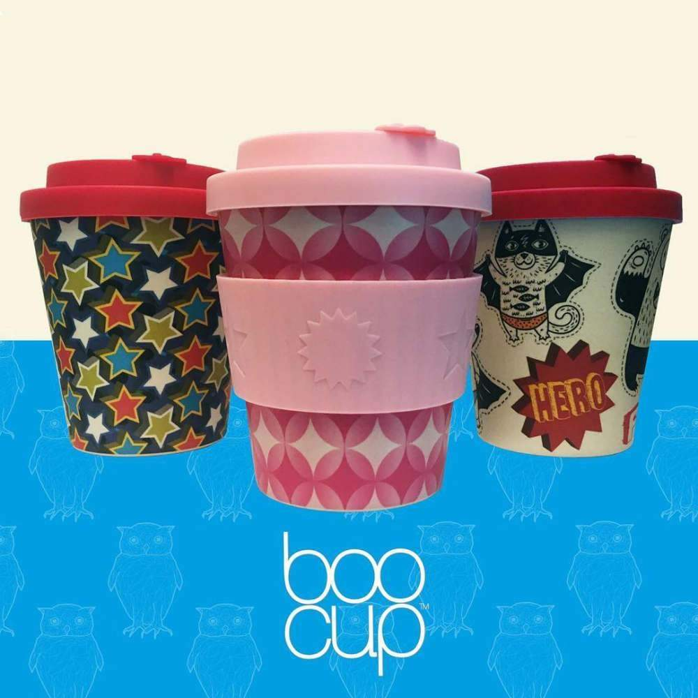 Ecoffee BooCup Kids Reusable Bamboo Coffee Cup 8oz (250ml) - Round In Yurkils &Keep
