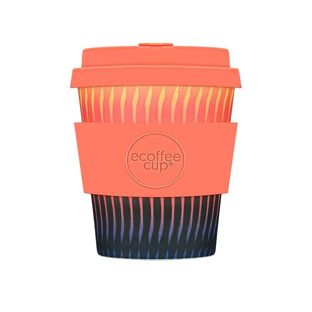 Ecoffee Reusable Bamboo Coffee Cup 8oz (250ml) - Patterned &Keep