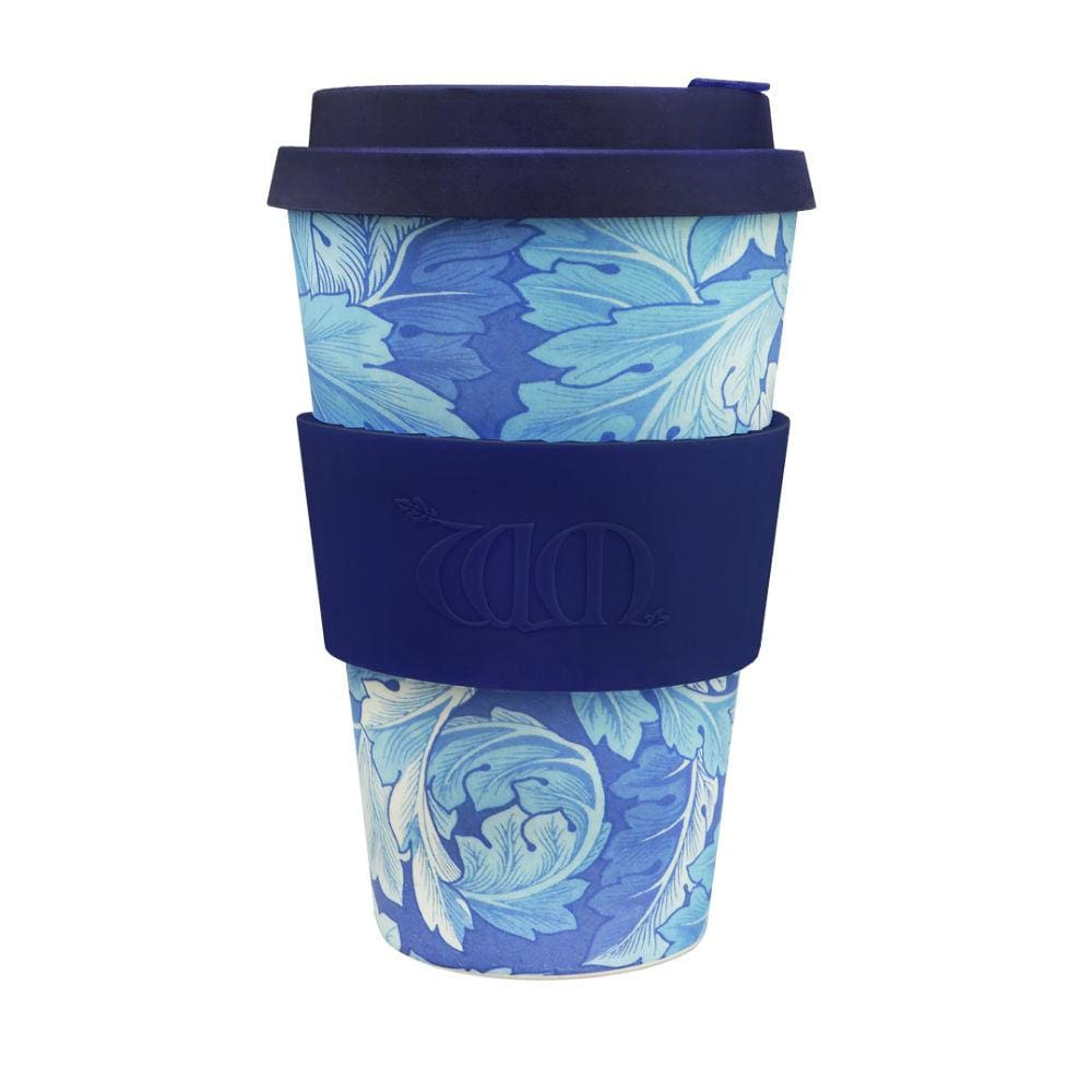 Ecoffee Ecoffee Reusable Bamboo Coffee Cup 14Oz (400Ml) - William Morris Acanthus &keep