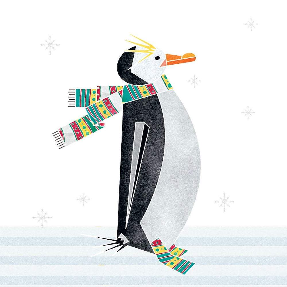 Winter Penguin - Recycled Charity Christmas Card Ellie Good &Keep
