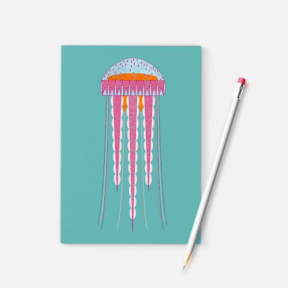 Geometric Jellyfish A6 Notebook Ellie Good &Keep