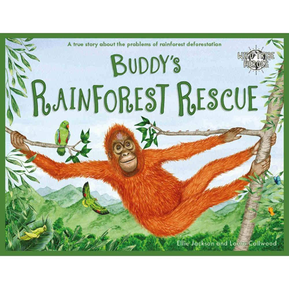 Ellie Jackson Buddys Rainforest Rescue - Childrens Book signed by Ellie Jackson &Keep