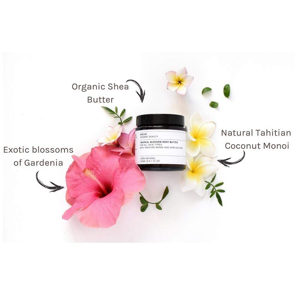 Evolve Organic Beauty Tropical Blossom Body Butter &Keep