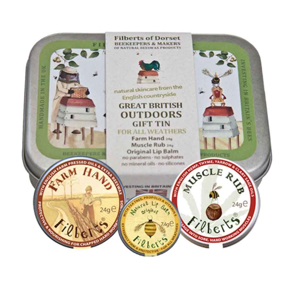 Great British Outdoors Gift Tin by Filberts Bees &Keep