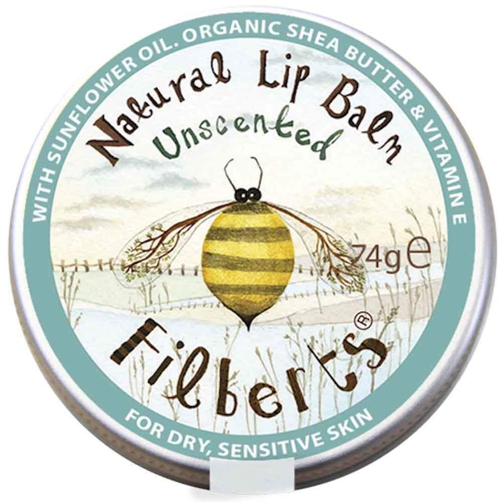 Unscented Natural Lip Balm by Filberts Bees &Keep