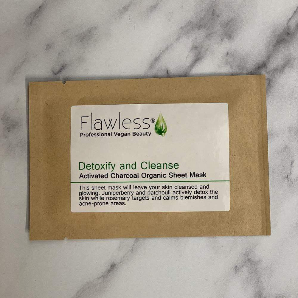 Face Mask Sheets by Flawless Skincare Detoxify & Cleanse &Keep