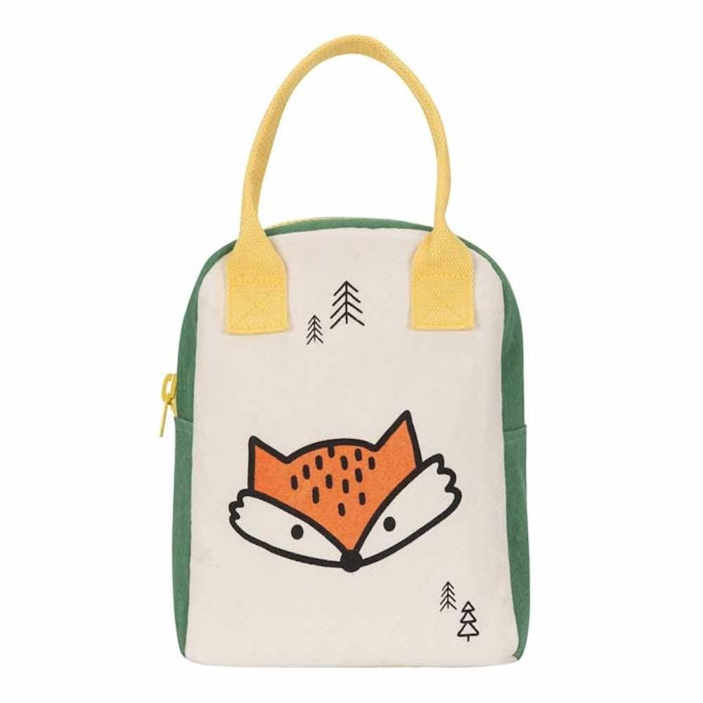 Organic Cotton Canvas Zipper Lunch Bag - Fox Fluf &Keep