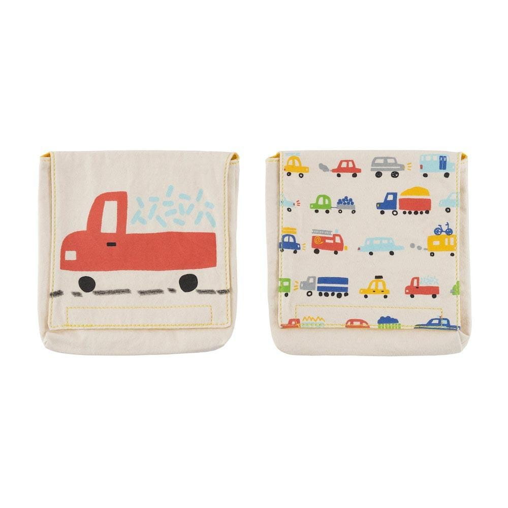 Organic Cotton Snack Pack - Cars/Trucks Fluf &Keep