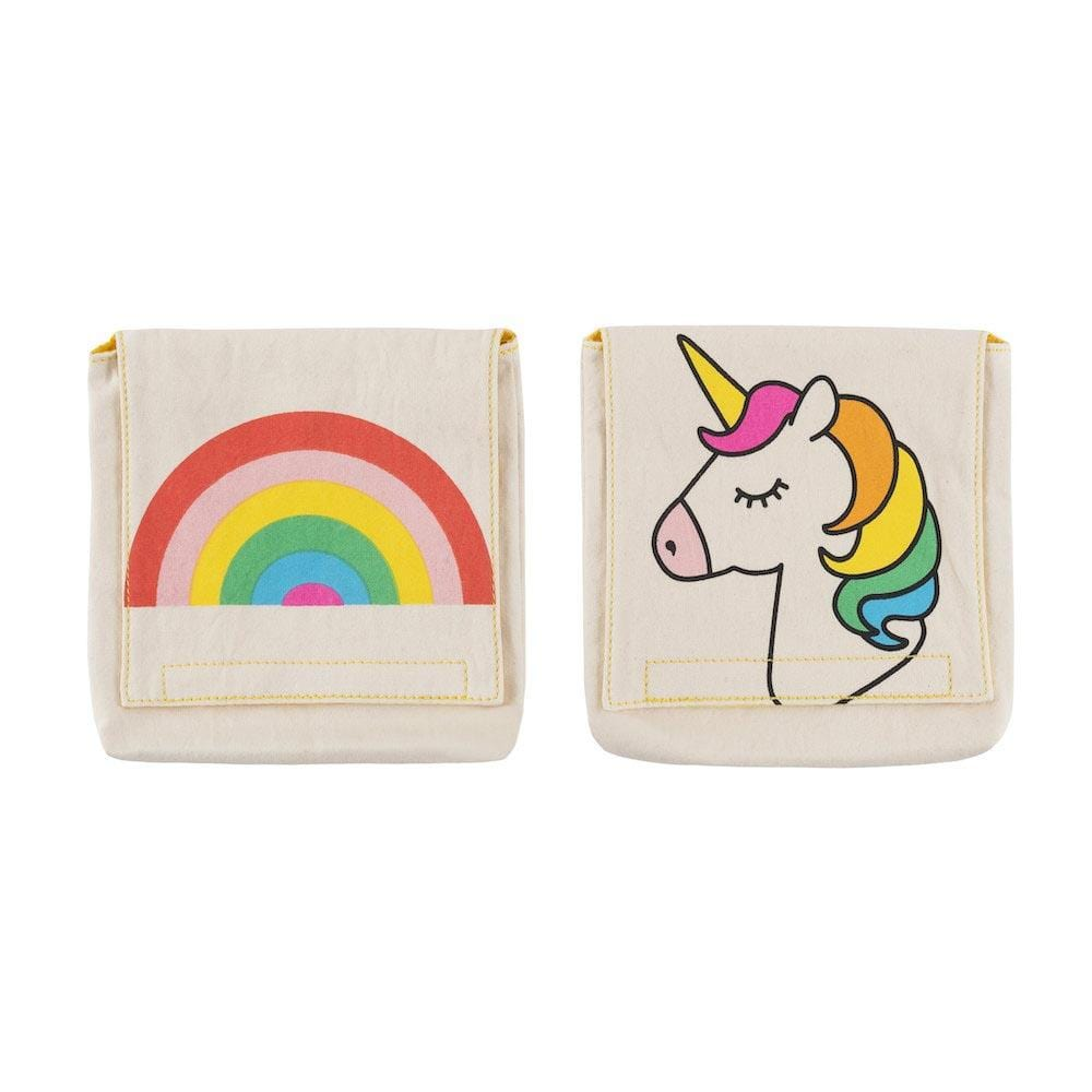 Organic Cotton Snack Pack - Rainbow/Unicorn Fluf &Keep