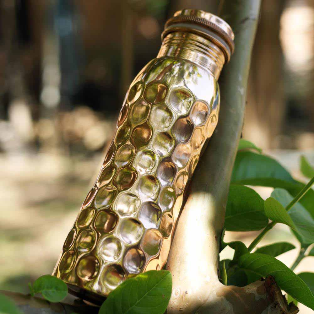 Copper Water Bottle 600ml - Diamond &Keep