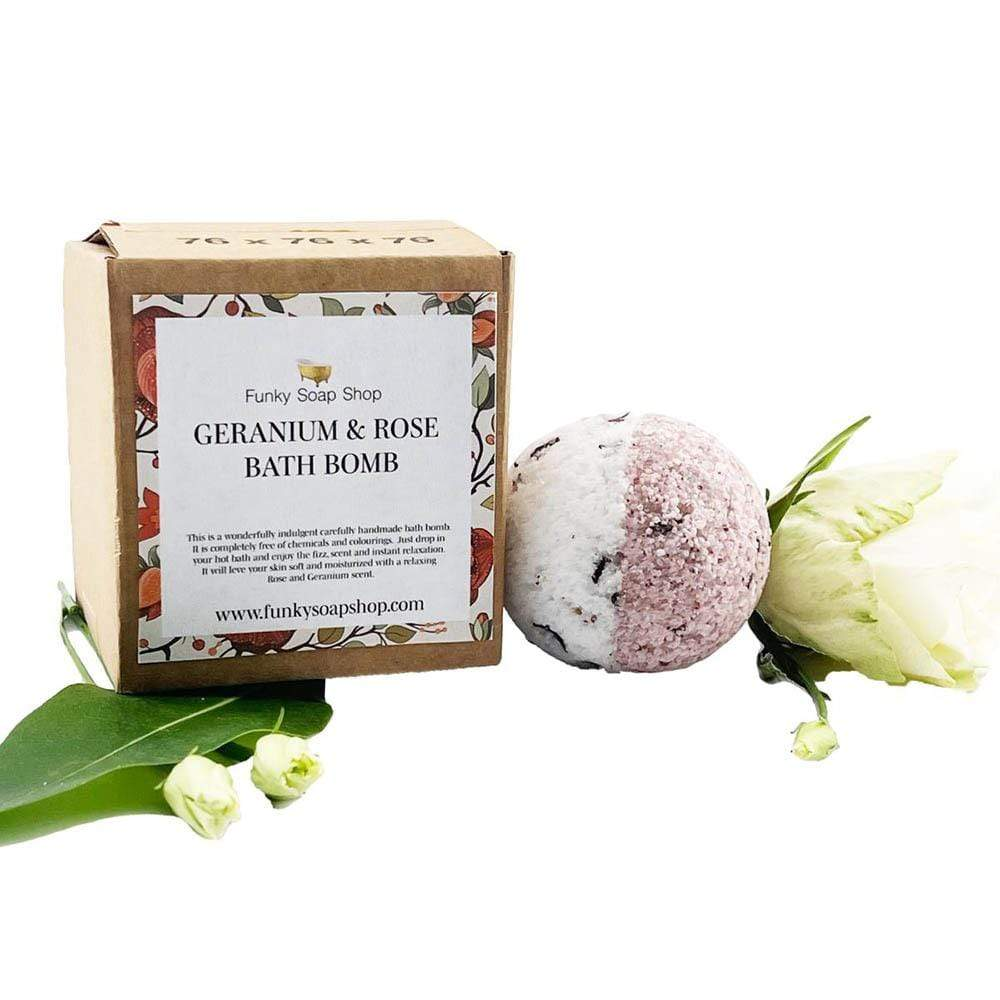 Handmade Vegan Bath Bomb - Geranium & Rose &Keep