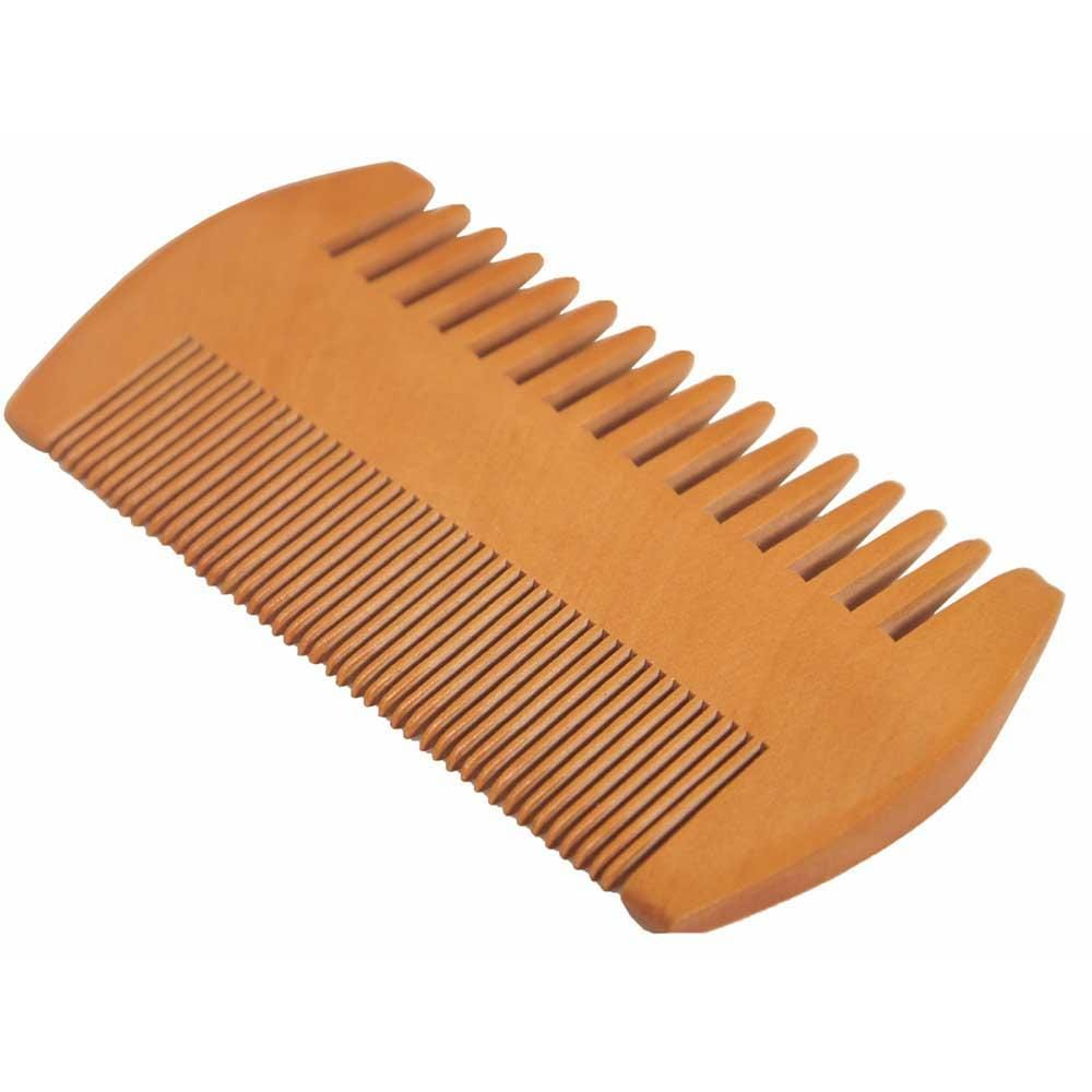 Double Sided Bamboo Beard Comb &Keep
