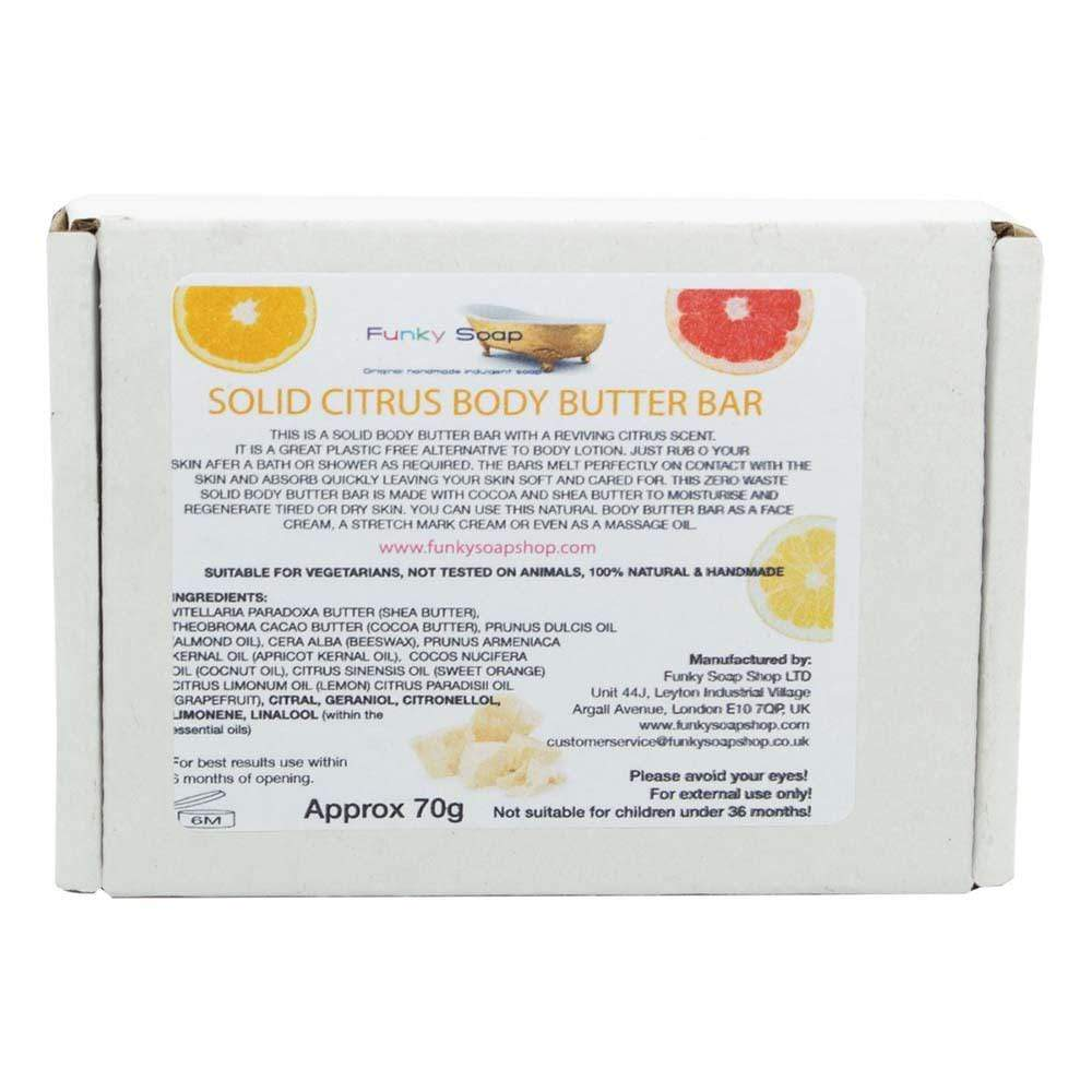 Citrus Body Butter Bar Funky Soap &Keep