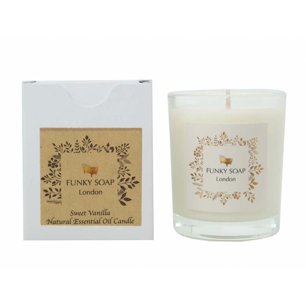 Sweet Vanilla Essential Oil Candle &Keep