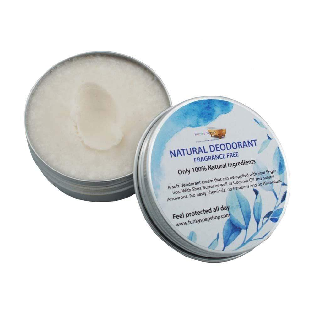 Natural Vegan Deodorant - Fragrance Free Funky Soap &Keep