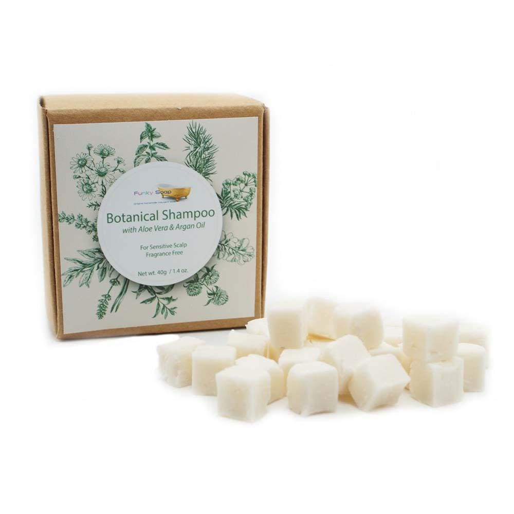 Botanical Shampoo Cubes with Aloe Vera & Argan Oil - Sensitive - Funky Soap &Keep