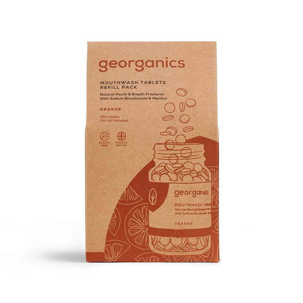 Georganics Natural Mouthwash Tablets Refill - Orange 720 Tablets