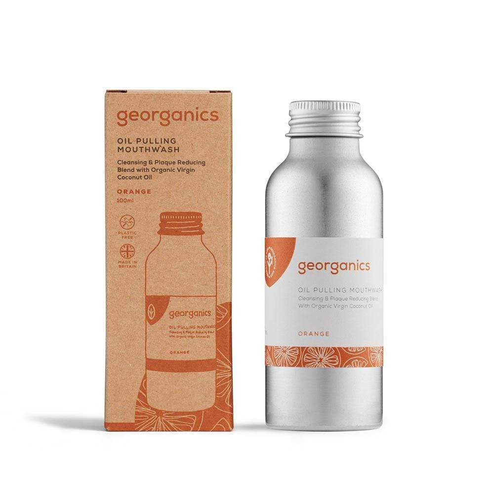 Georganics Oil Pulling Mouthwash - Orange 100ml