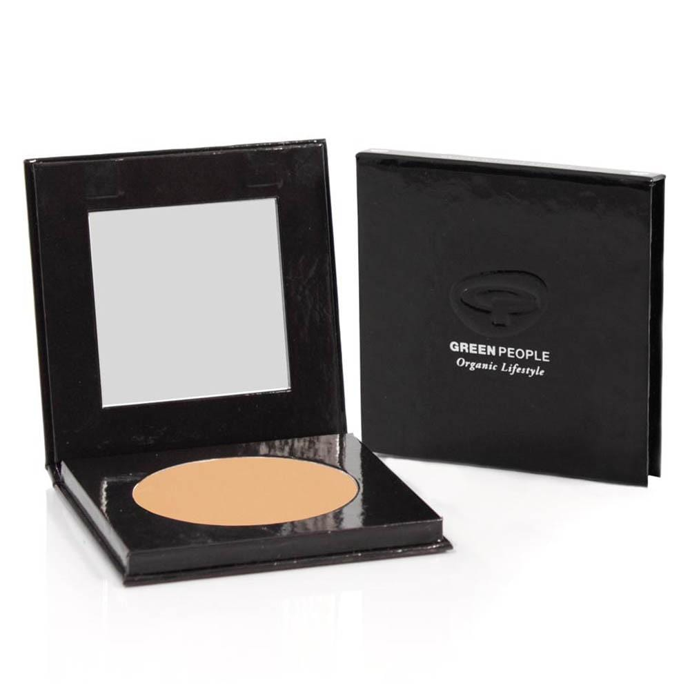Green People Mineral Pressed Powder SPF15 10g - Caramel Medium