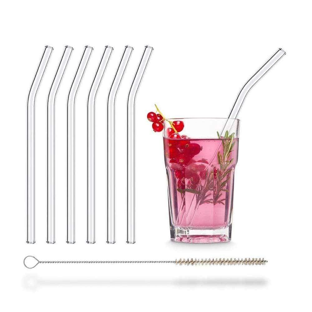 HALM Bent Glass Straws - Pack of 6 &Keep