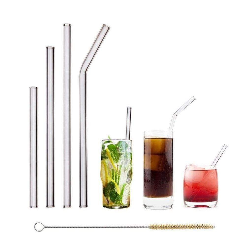 Glass Straw Starter Set - Pack of 4 &Keep