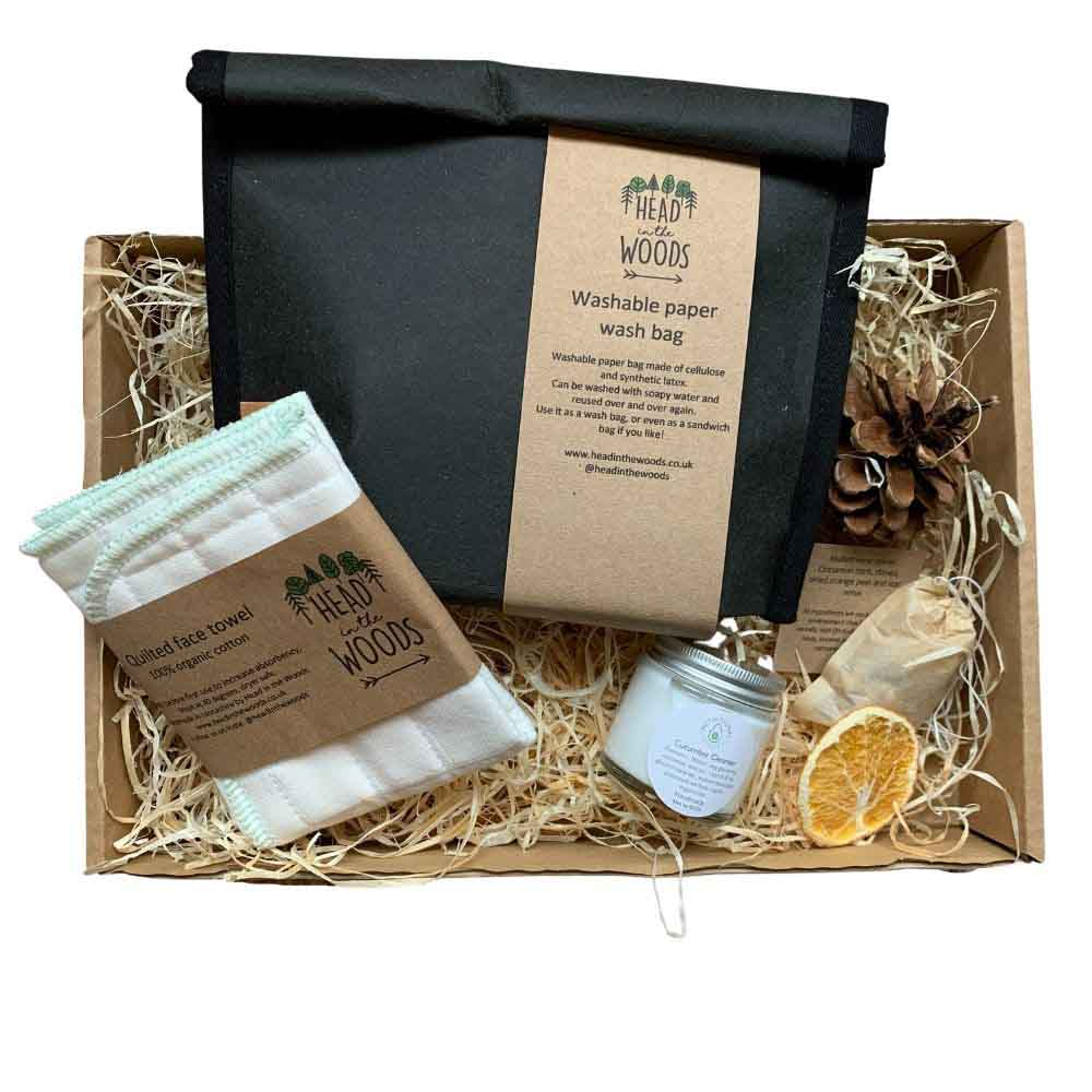 Hot Cloth Cleanser & Wash Bag Gift Box by Head in the Woods &Keep