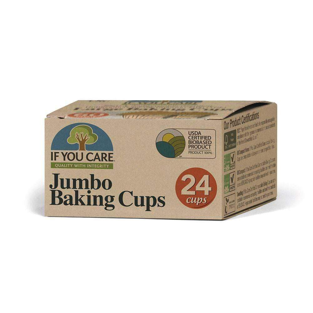Compostable Unbleached Baking Cases - Jumbo If You Care &Keep