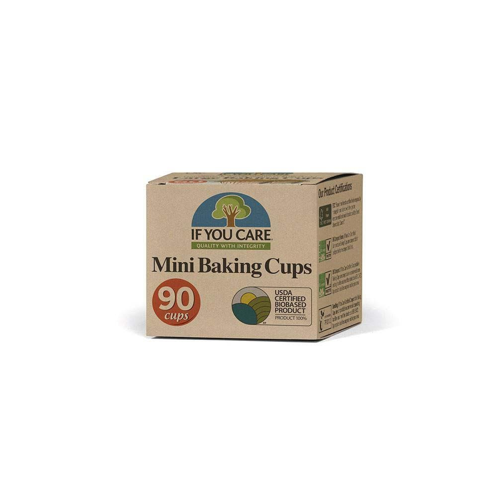Compostable Unbleached Baking Cases - Mini If You care &Keep