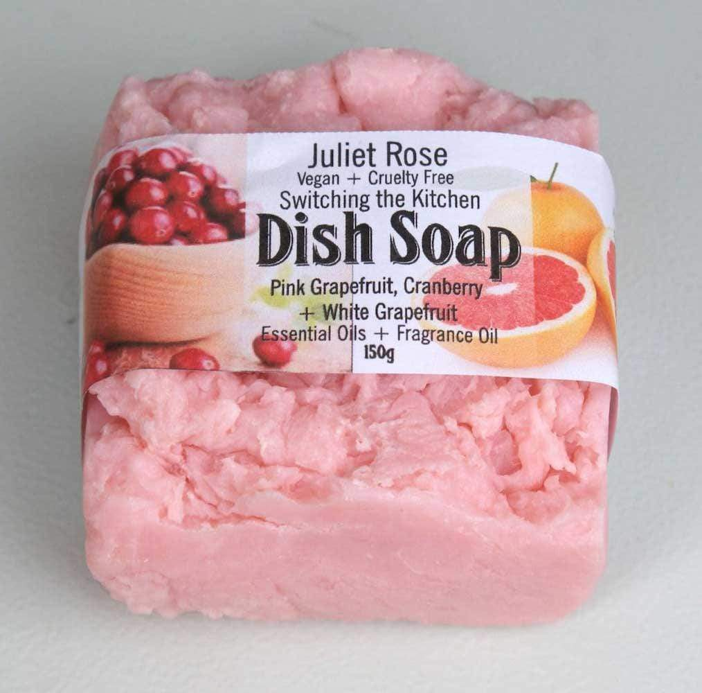 Dish Soap Bar 150g - Grapefruits & Cranberry Juliet Rose &Keep