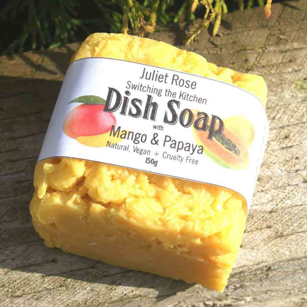Dish Soap Bar 150g - Mango & Papaya Juliet Rose &Keep