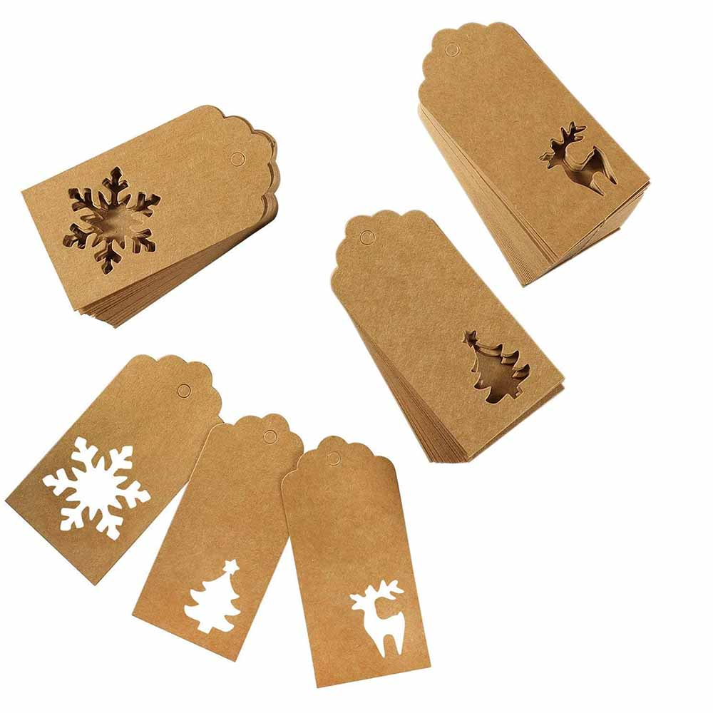 Die Cut Confetti Christmas Gift Tags Pack of 10 &Keep