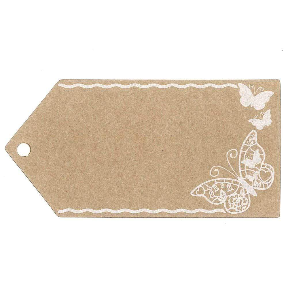 Kraft Gift Tags Pack of 10 - Butterfly &Keep