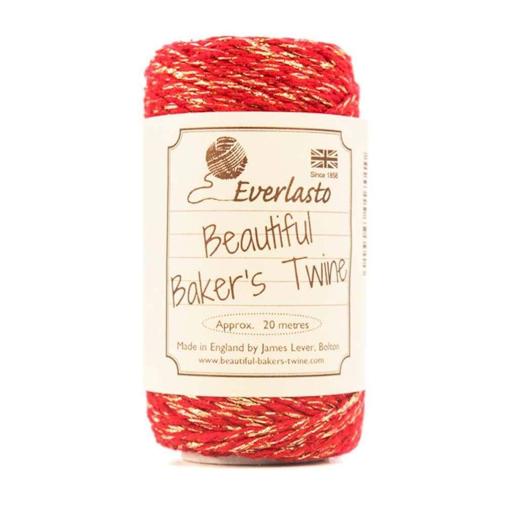 Red/Sparkle Cotton Twine 20m &Keep