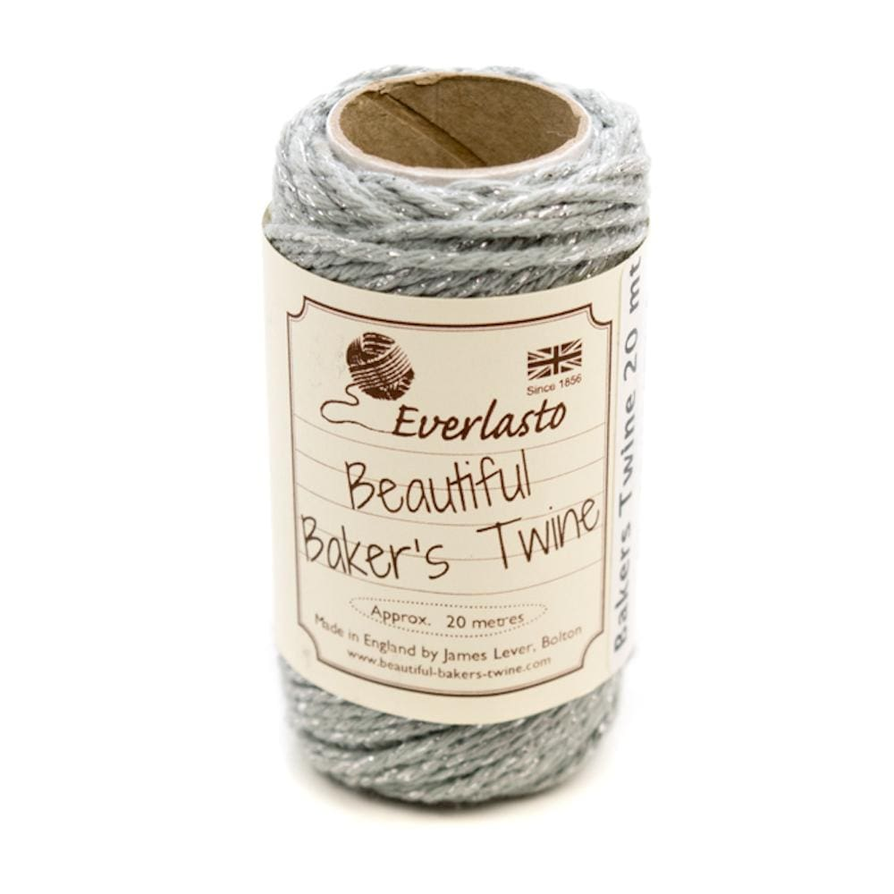 Silver/Sparkle Cotton Twine 20m &Keep