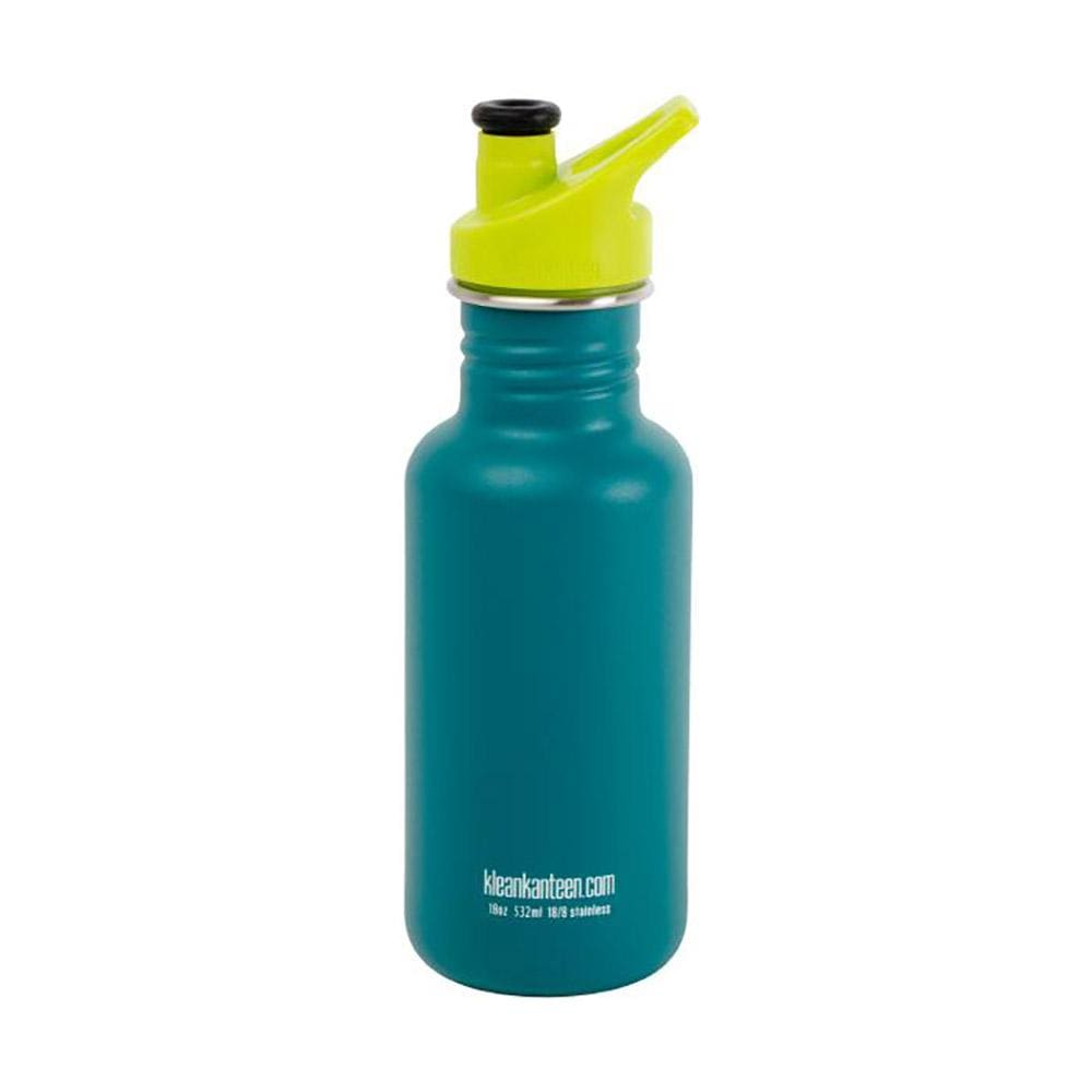 Klean Kanteen Stainless Steel 532ml Reusable Bottle - Neptune Blue &Keep