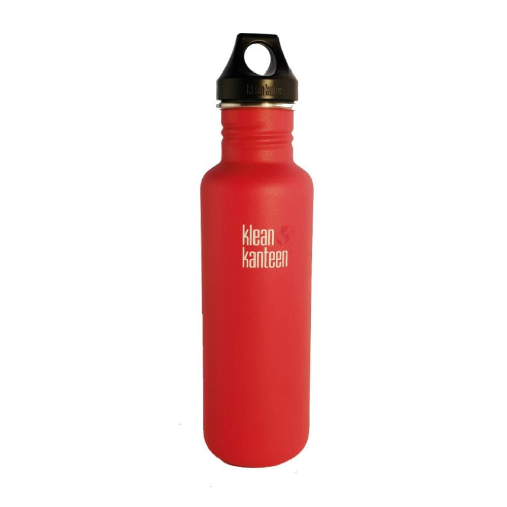 Klean Kanteen Klean Kanteen Stainless Steel 800ml Reusable Bottle - Loop Cap - Post Box Red &Keep