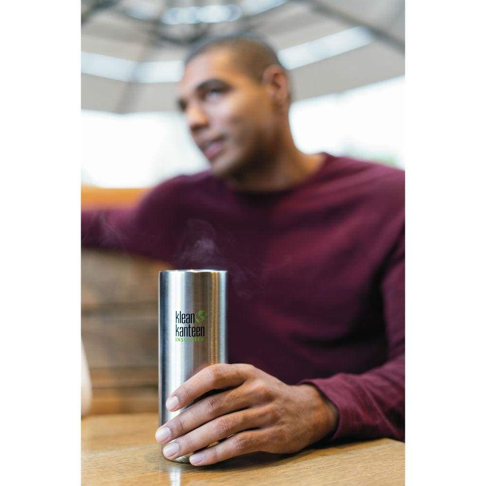 Klean Kanteen Klean Kanteen TKWide 473ml Insulated with Café Cap - Brushed Steel &Keep