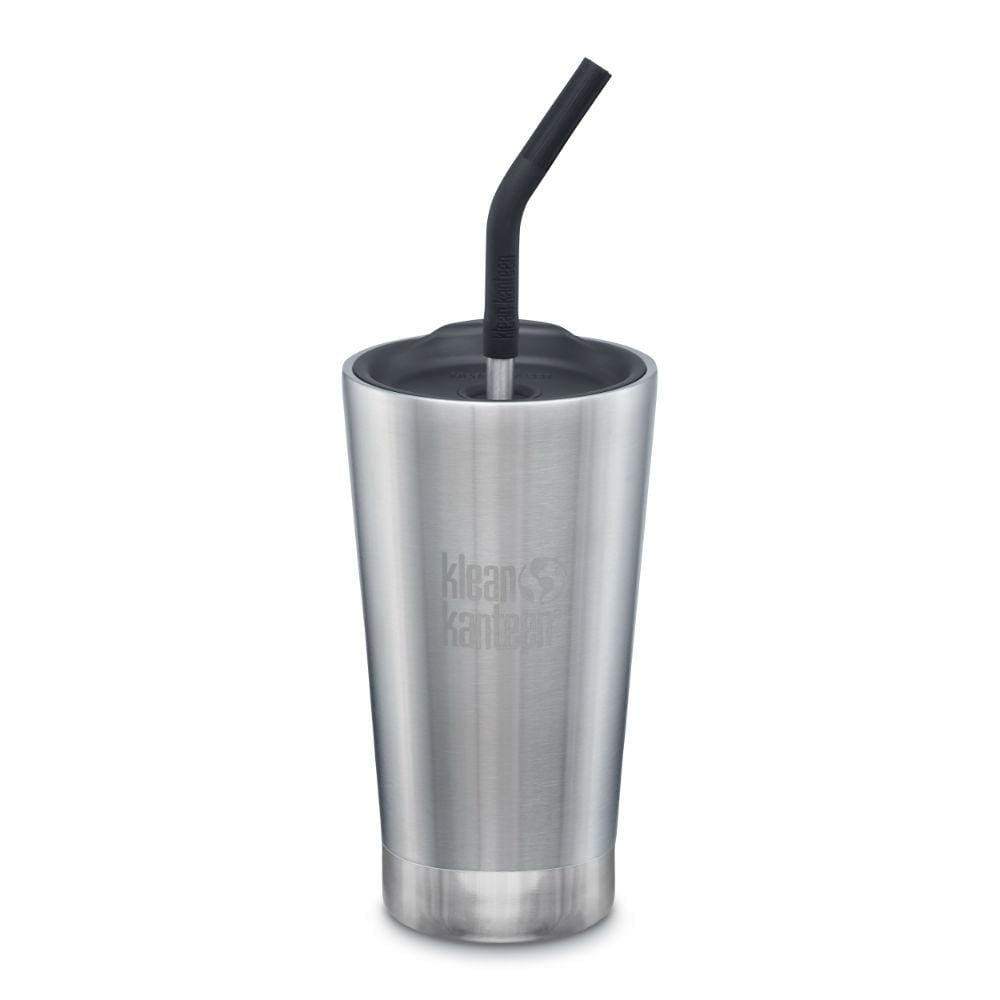 Klean Kanteen Klean Kanteen Insulated Tumbler (473ml) with Straw & Lid - Brushed Steel &Keep