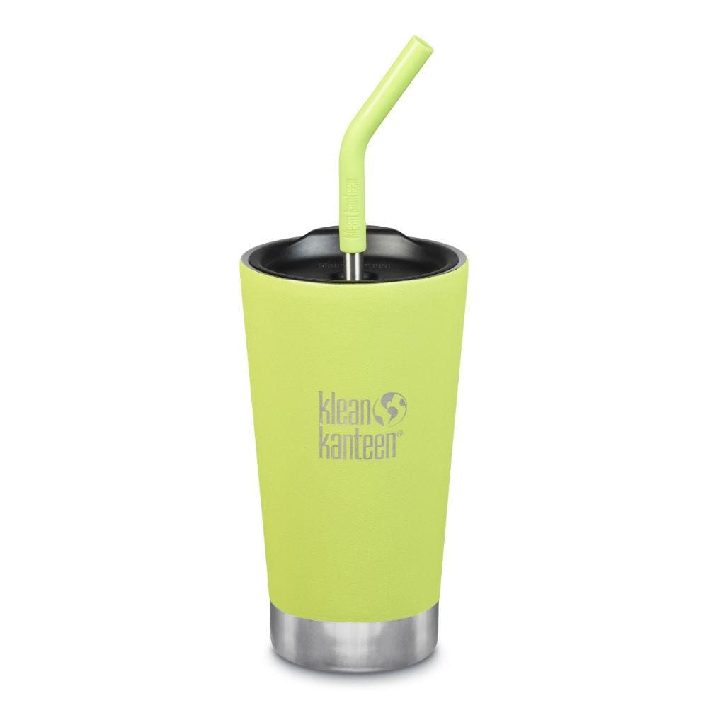 Klean Kanteen Klean Kanteen Insulated Tumbler (473ml) with Straw & Lid - Juicy Pear &Keep