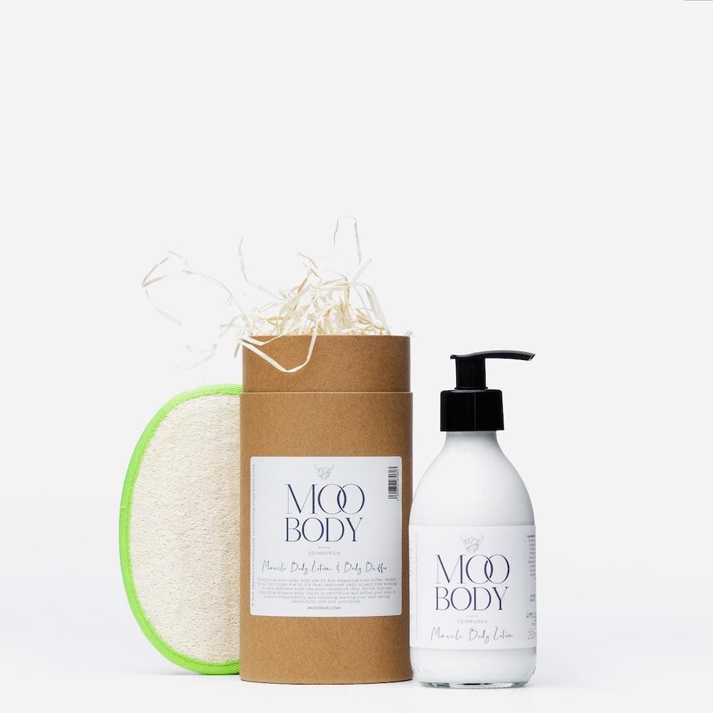 Miracle Body Lotion & Body Buffer Gift Tube by Moo Hair &Keep