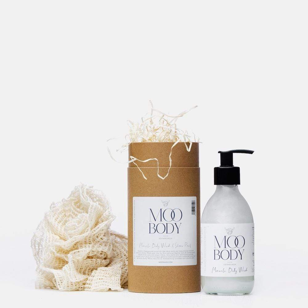 Miracle Body Wash & Shower Puff Gift Tube by Moo Hair &Keep