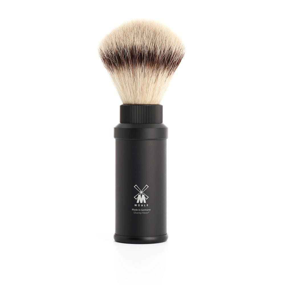 Muehle Vegan Fibre Travel Shaving Brush - Black &Keep