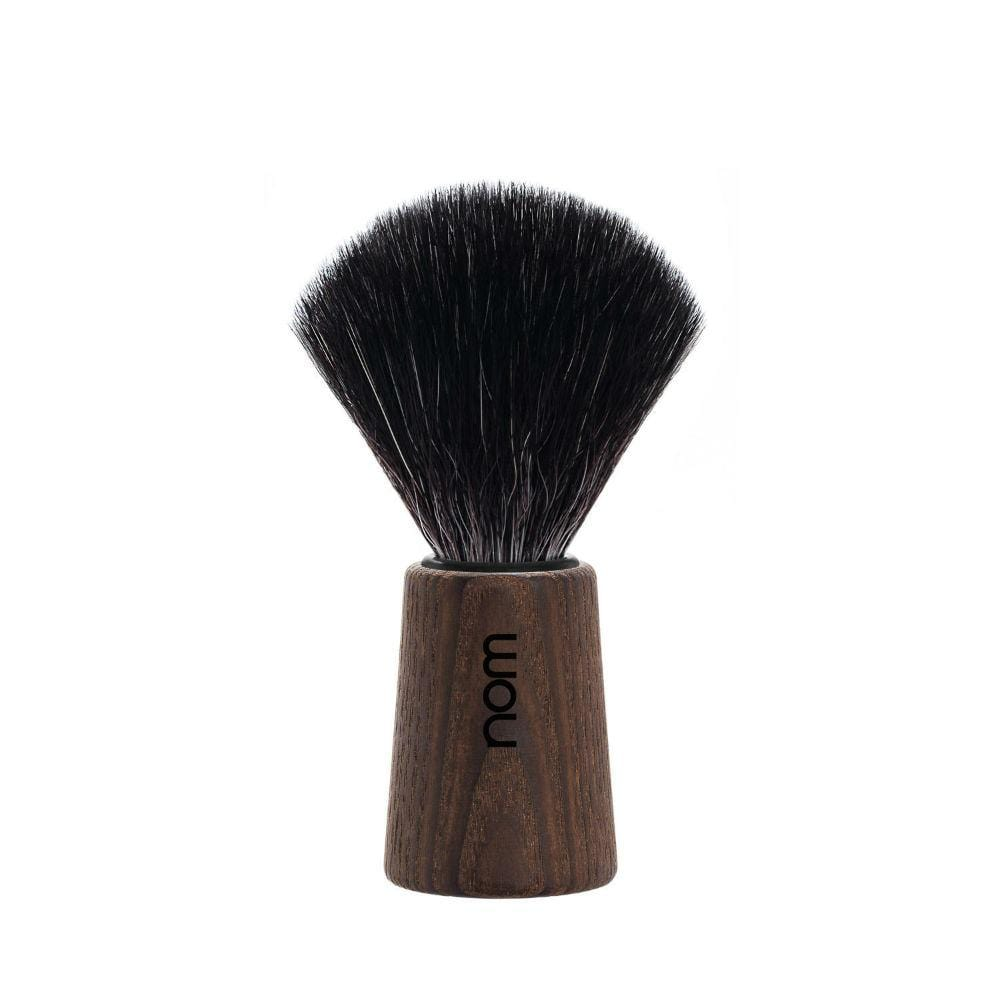 nom THEO Dark Ash Vegan Fibre Shaving Brush &Keep