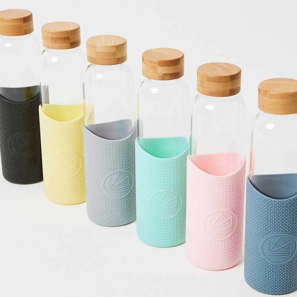 Neon Kactus Reusable Glass Bottle 550ml mixed colours &Keep