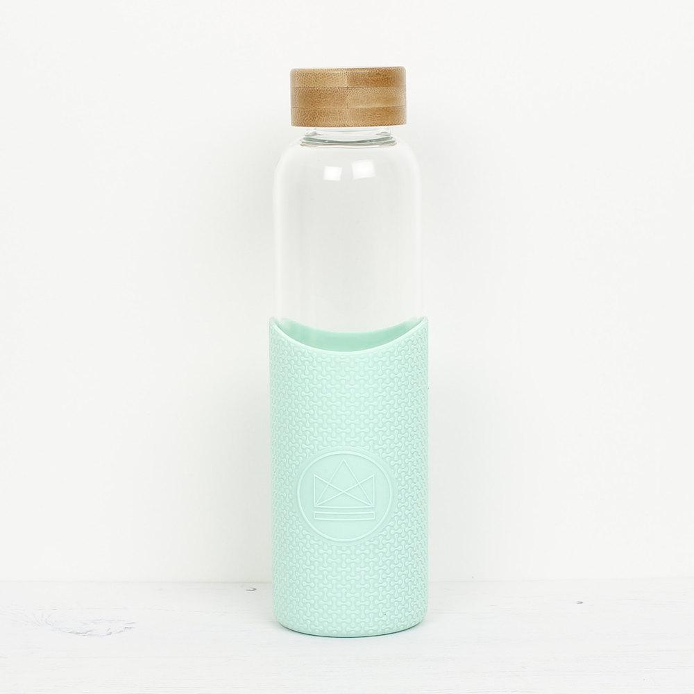 Neon Kactus Reusable Glass Bottle 550ml - Good Vibrations (Green) &Keep