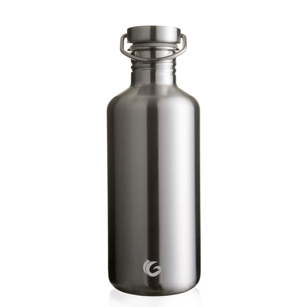 One Green Bottle Tough Canteen Stainless Steel Bottle 1200ml Silver steel cap