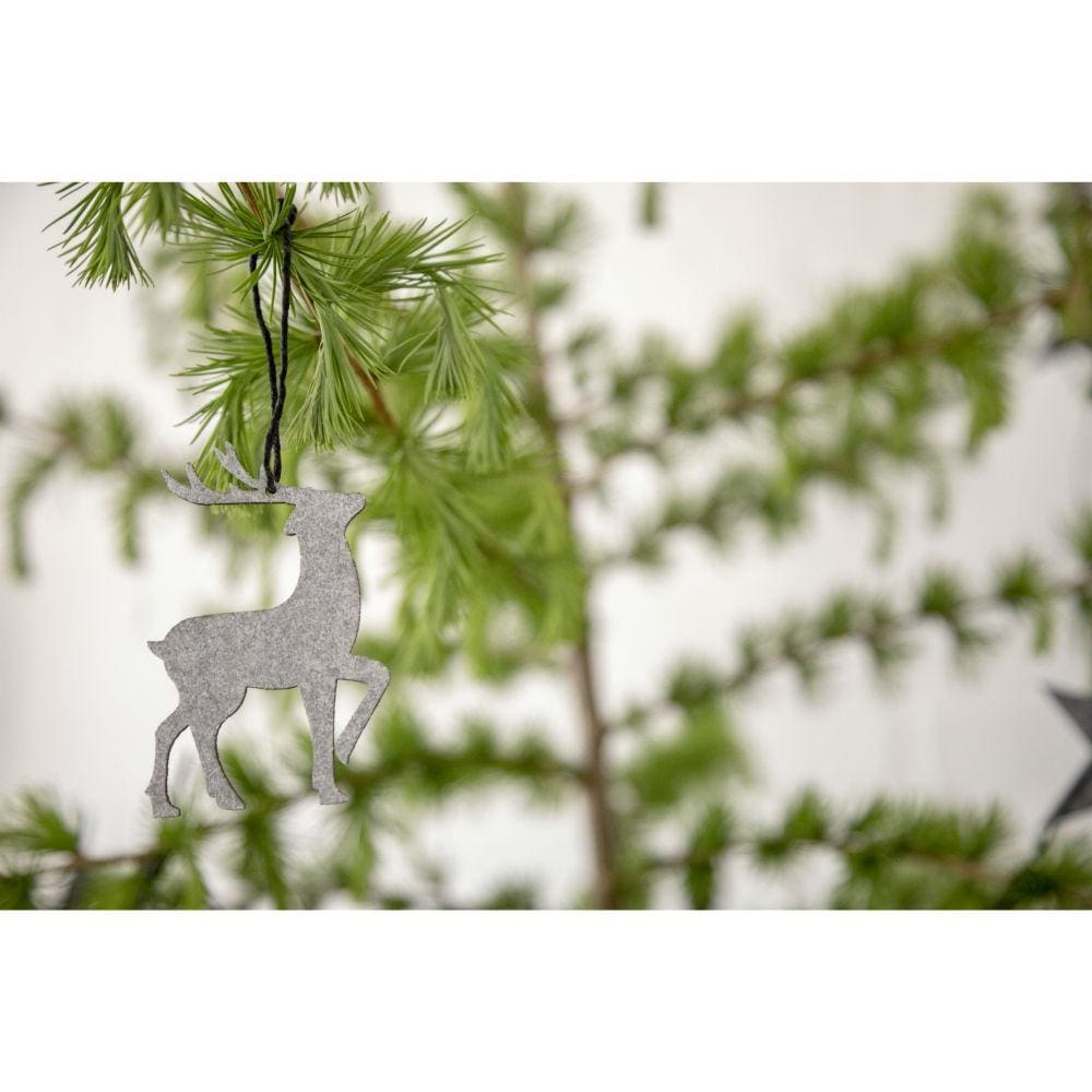 Oohh Envelope Of 8 Eco Felt Hanging Forest Ornaments - White &keep