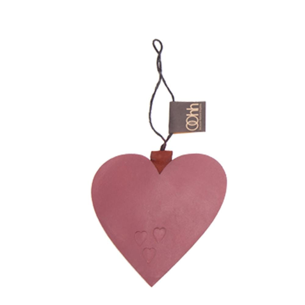Hanging Recycled Paper Christmas Ornament - Heart Lubech Living Oohh &Keep