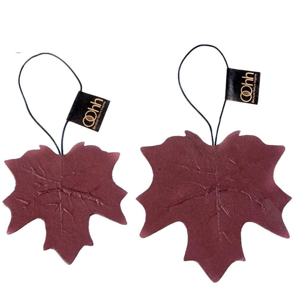 Set of 2 Recycled Paper Leaf Hanging Ornaments Lubech Living Oooh &Keep