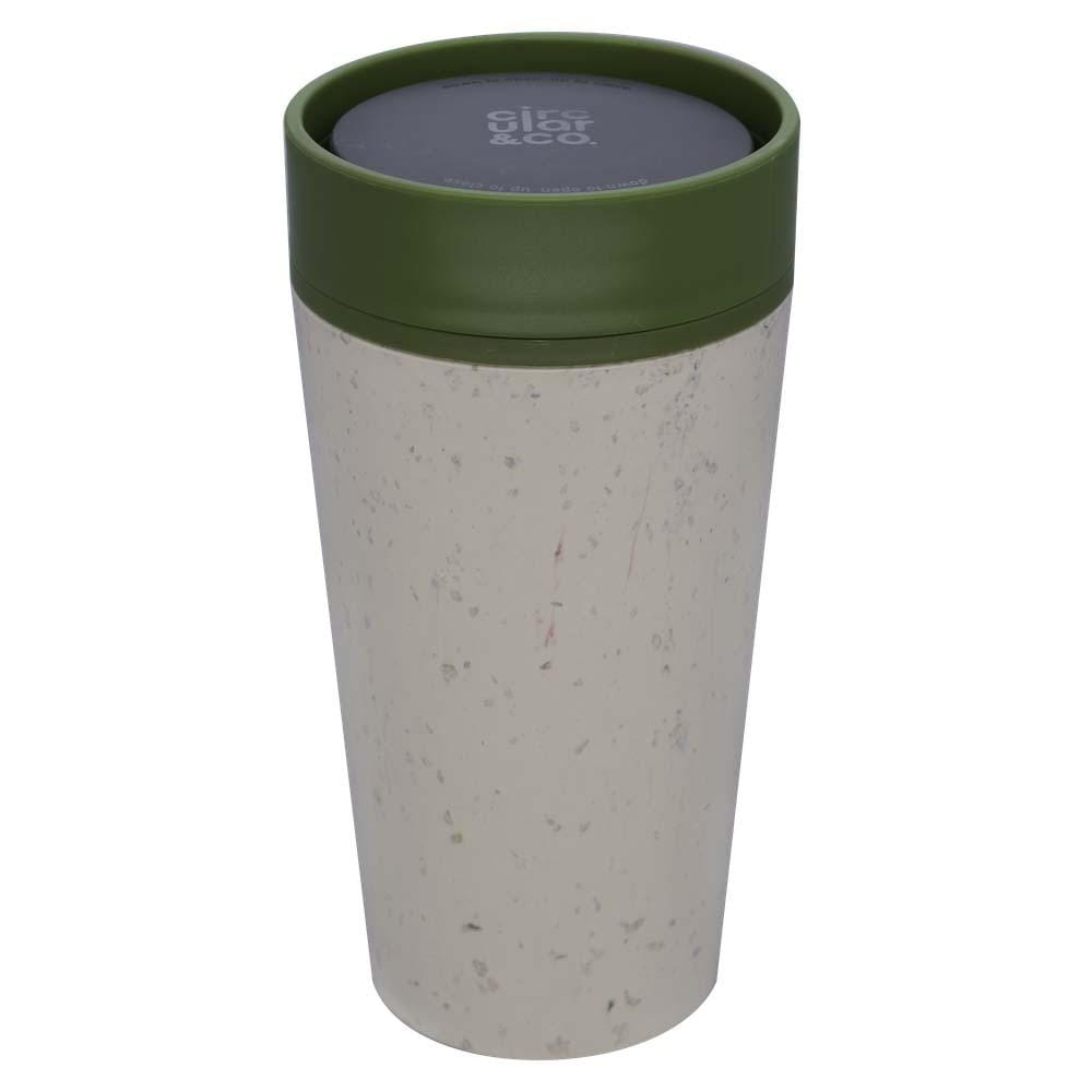 Circular & Co (formerly rCUP) Recycled Coffee Cup 12oz (340ml) - Cream & Green &Keep